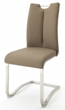 2 Freischwinger=Set Schwing - Stuhl ARTOS 1XL Kunstleder Cappuccino A1XL10CX
