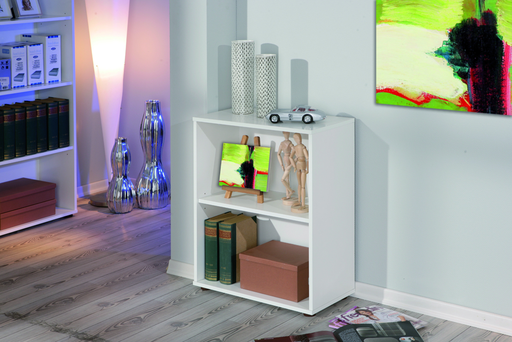 Raumteiler, Regal, Bücherregal, Bücherbord Arco1 Weiß