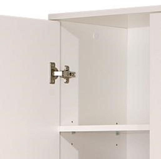 2-trg. Schrank, Hochschrank, Mehrzweckschrank, Arconati Melaminbeschichtet Weiß