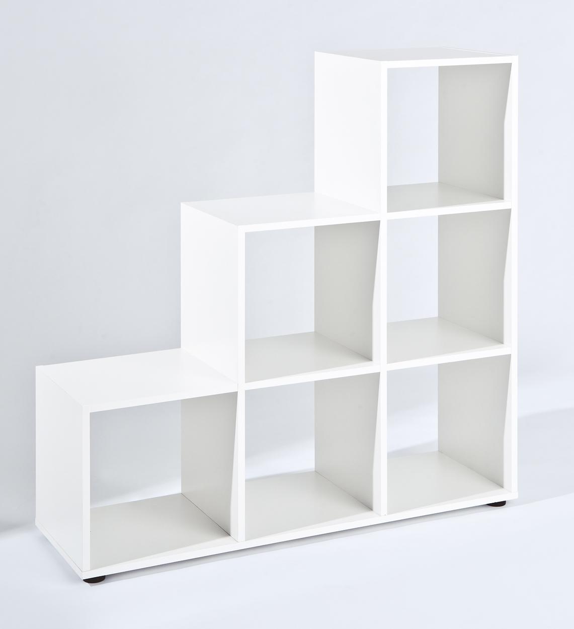 Raumteiler Regal Trennwand Etagere Cadore6 Weiß