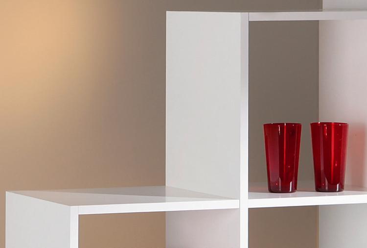 Raumteiler Regal Trennwand Etagere Caboto10 Weiß