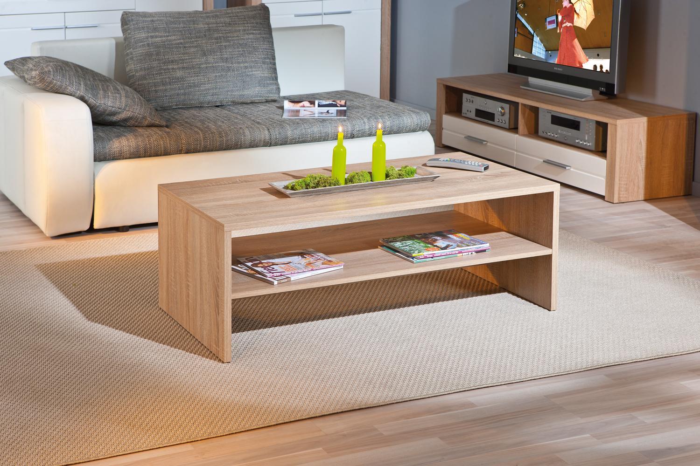 Couchtisch, Tisch, Wohnzimmer-Tisch Absoluto18 Sonoma Eiche Dekor