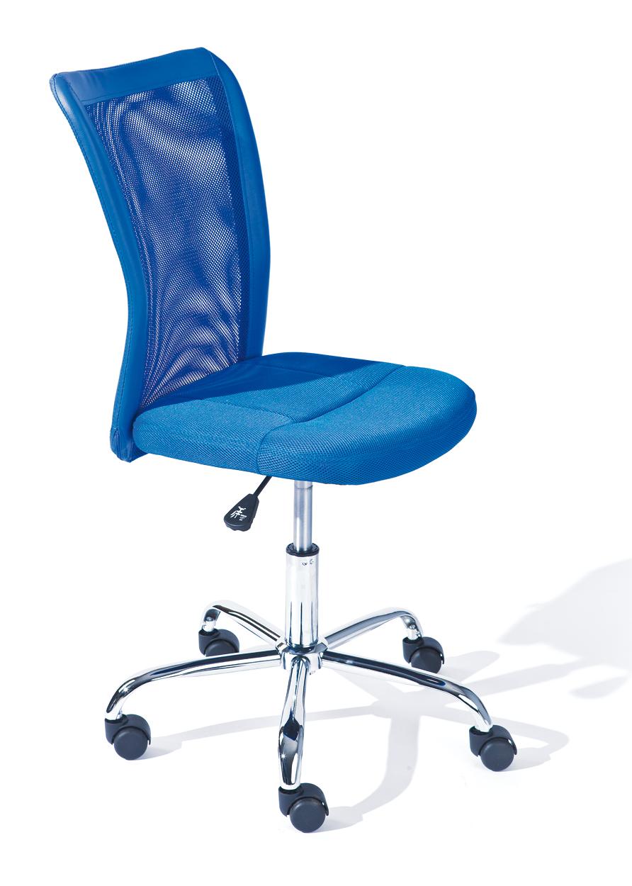 Drehstuhl, Bürostuhl, Kinder-Stuhl Bonnie Mesh Blau mit Rollen