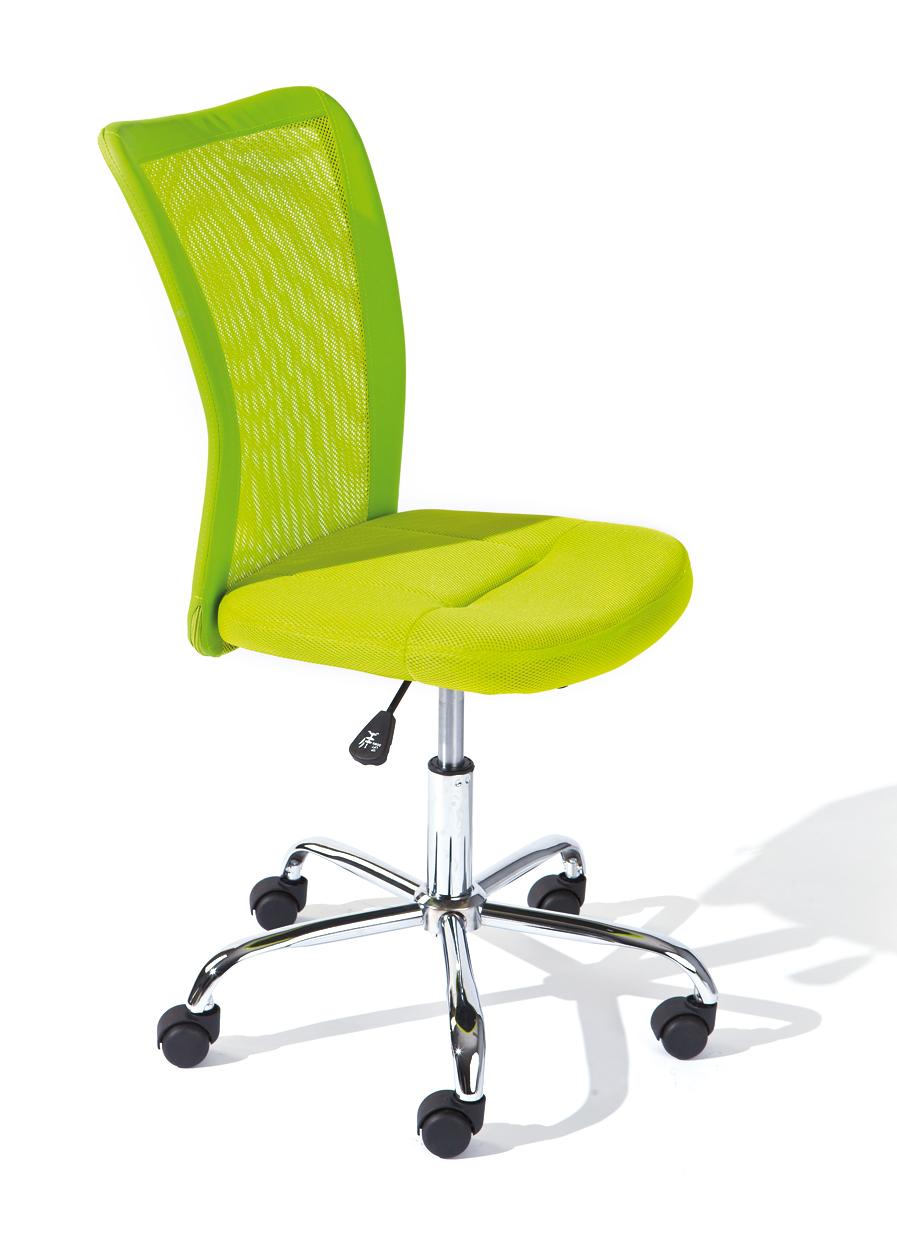 Drehstuhl, Bürostuhl, Kinder-Stuhl Bonnie Mesh Grün mit Rollen