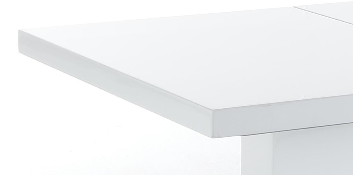 Säulentisch Esstisch Iris II 53, Hochglanz Weiß, Ausziehbar