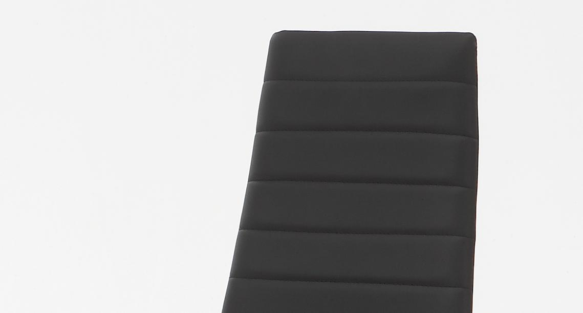 8 Stühle=Set Vierfussstuhl Stuhl Simone S 03 Kunstleder Schwarz