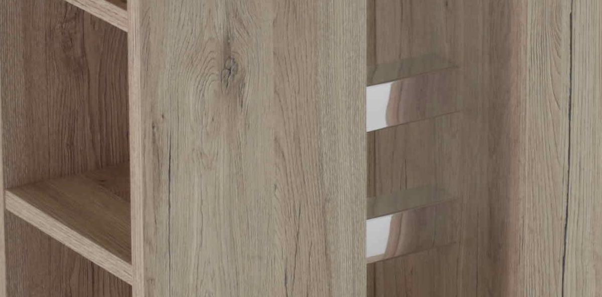 120x80 cm Esstisch, Säulentisch Steffi 69 San Remo hell,ausziehbar