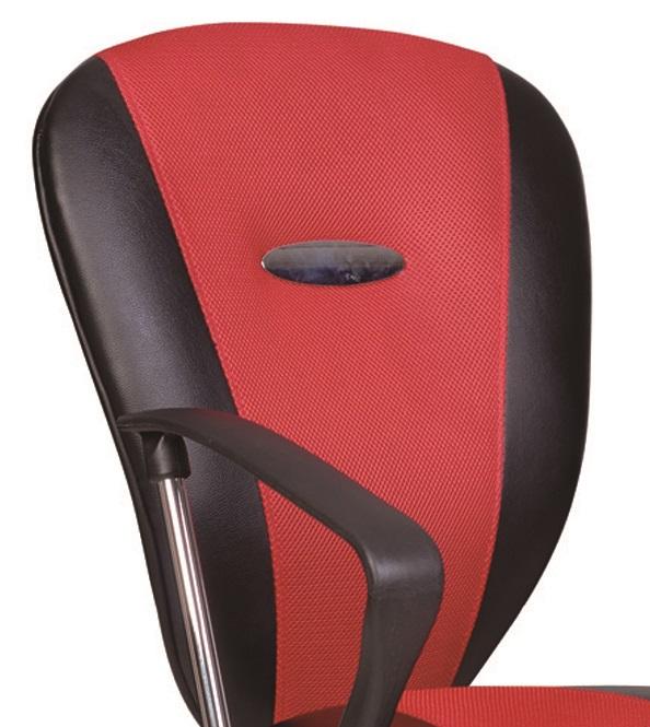 Bürostuhl Drehstuhl Schreibtischstuhl 60303R5 Drehstuhl Rot/Schwarz