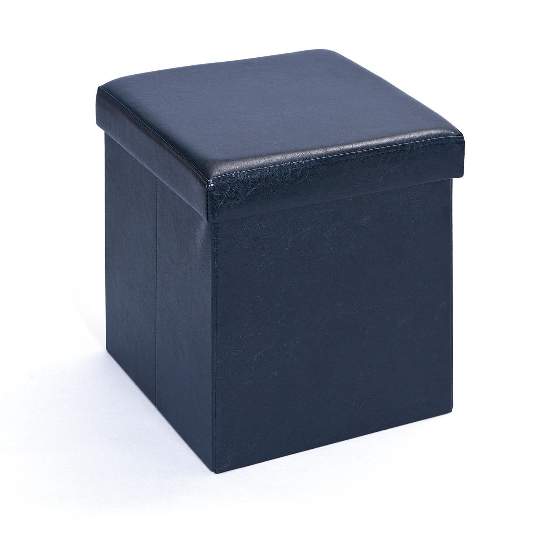 Hocker Stauraum Faltbox Spielzeugkiste Setti Schwarz