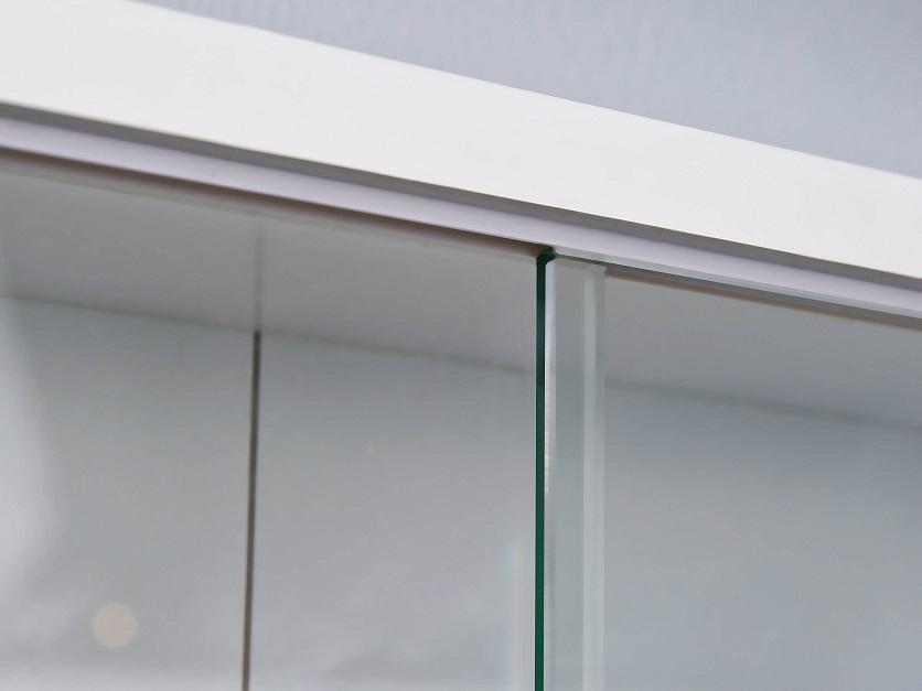 Schaukasten Sammelvitrine Wandvitrine Complilati Weiß