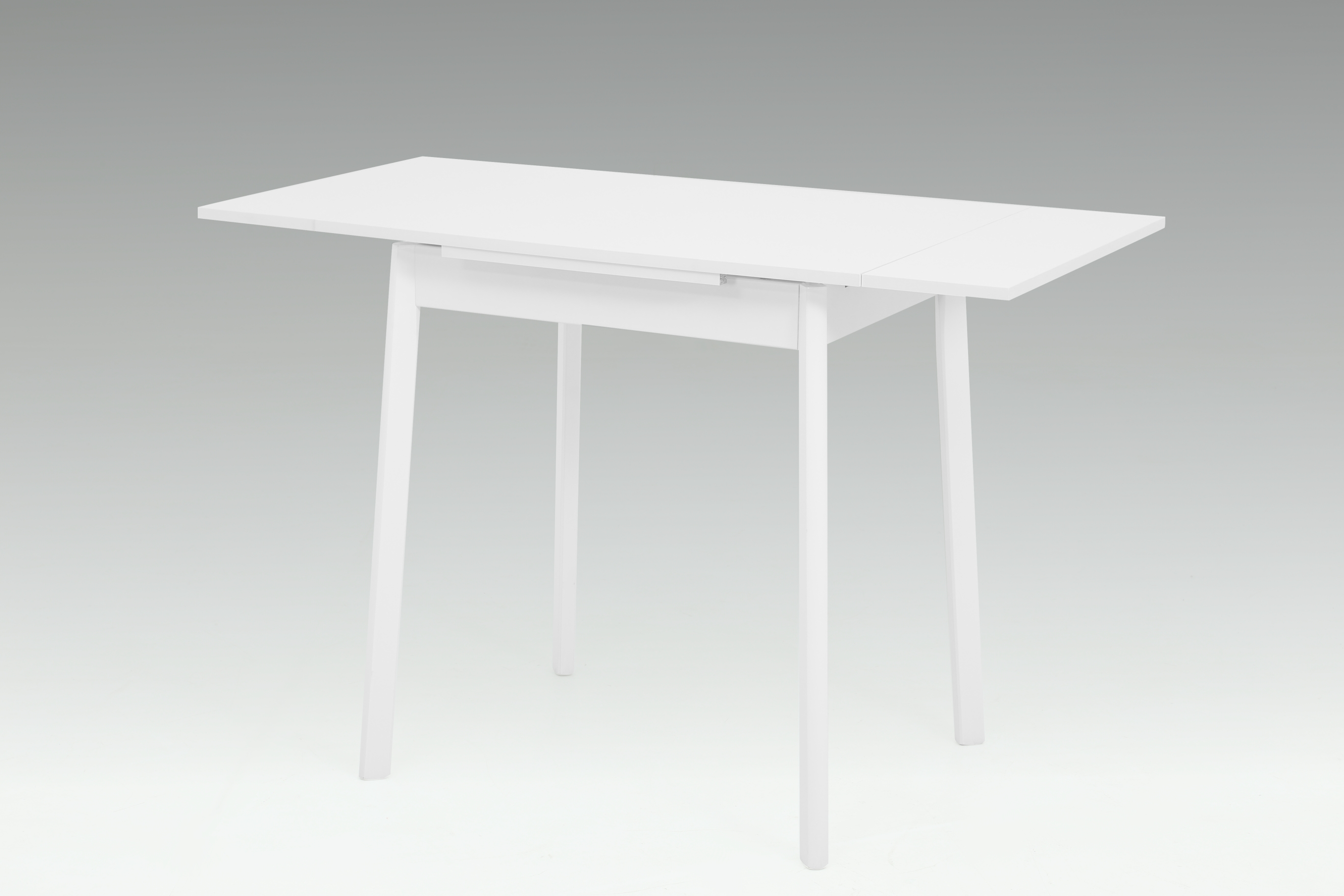 75-112x55 cm Esstisch Küchentisch Tisch Trier II 13 Weiß ausziehbar