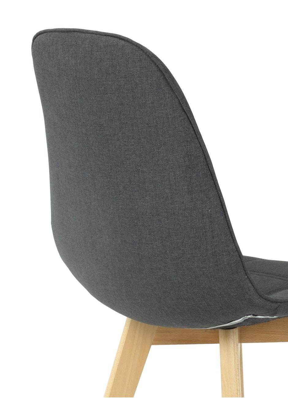 2 Stühle=Set Vierfussstuhl Stuhl GinaI28/06 Buche Anthrazit