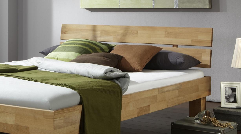 90x200 Bett Futonbett Holzbett Kernbuche Massiv Jud090E geölt