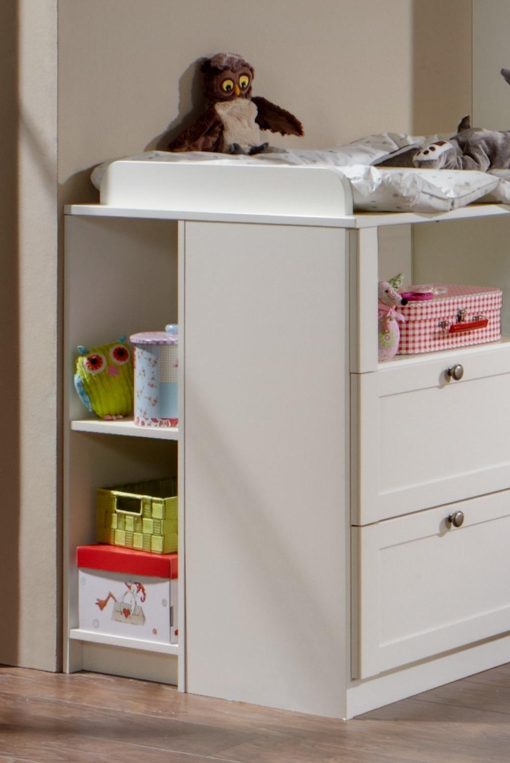 8tlg. Babyzimmer Kinderzimmer Komplettset Filou Weiß