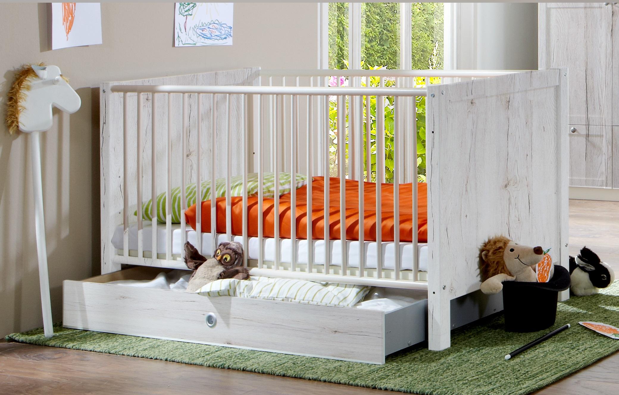 3tlg. Babyzimmer Kinderzimmer Komplettset Filou Weißeiche