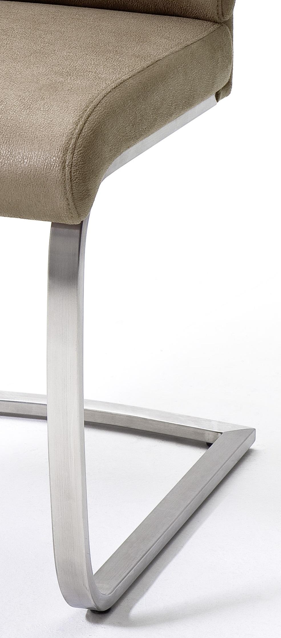 4 Freischwinger=Set Schwing - Stuhl Rabea RABE16SA Kunstleder Sand
