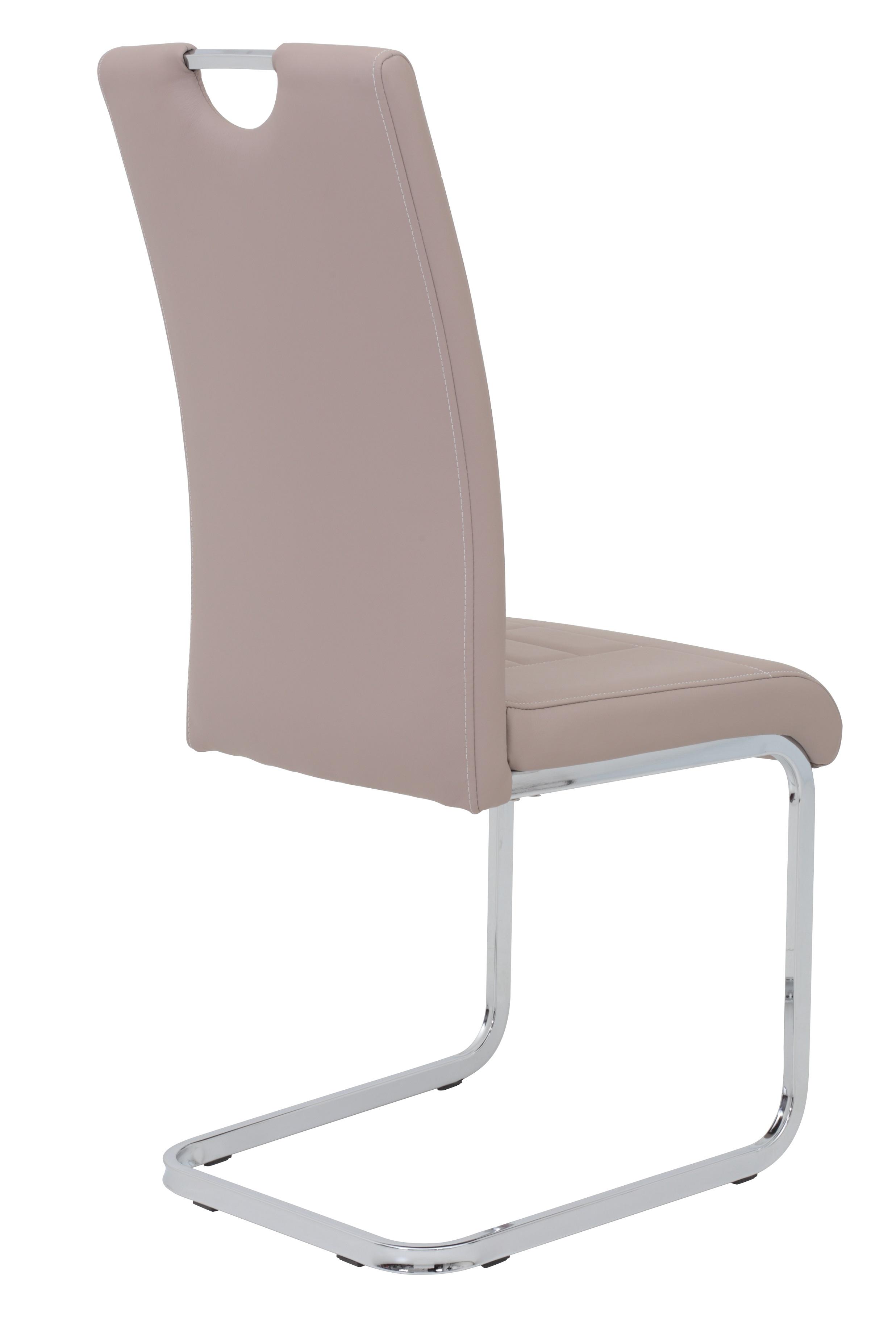 4 Freischwinger=Set Schwing - Stuhl Ruby 34 Kunstleder Cappuccino