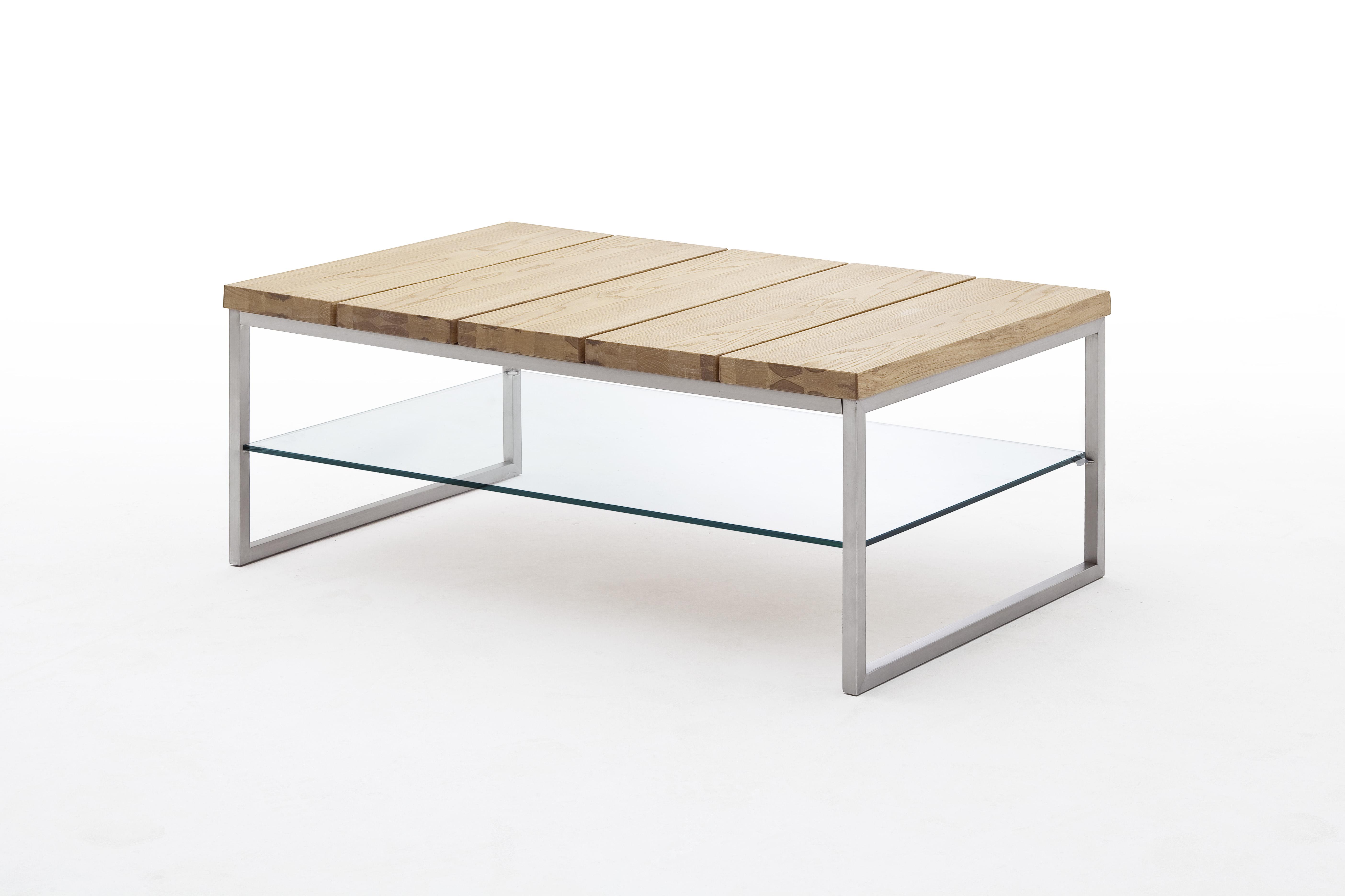 Couchtisch Beistelltisch Tisch Wohnzimmertisch Glas Norge Asteiche Geölt