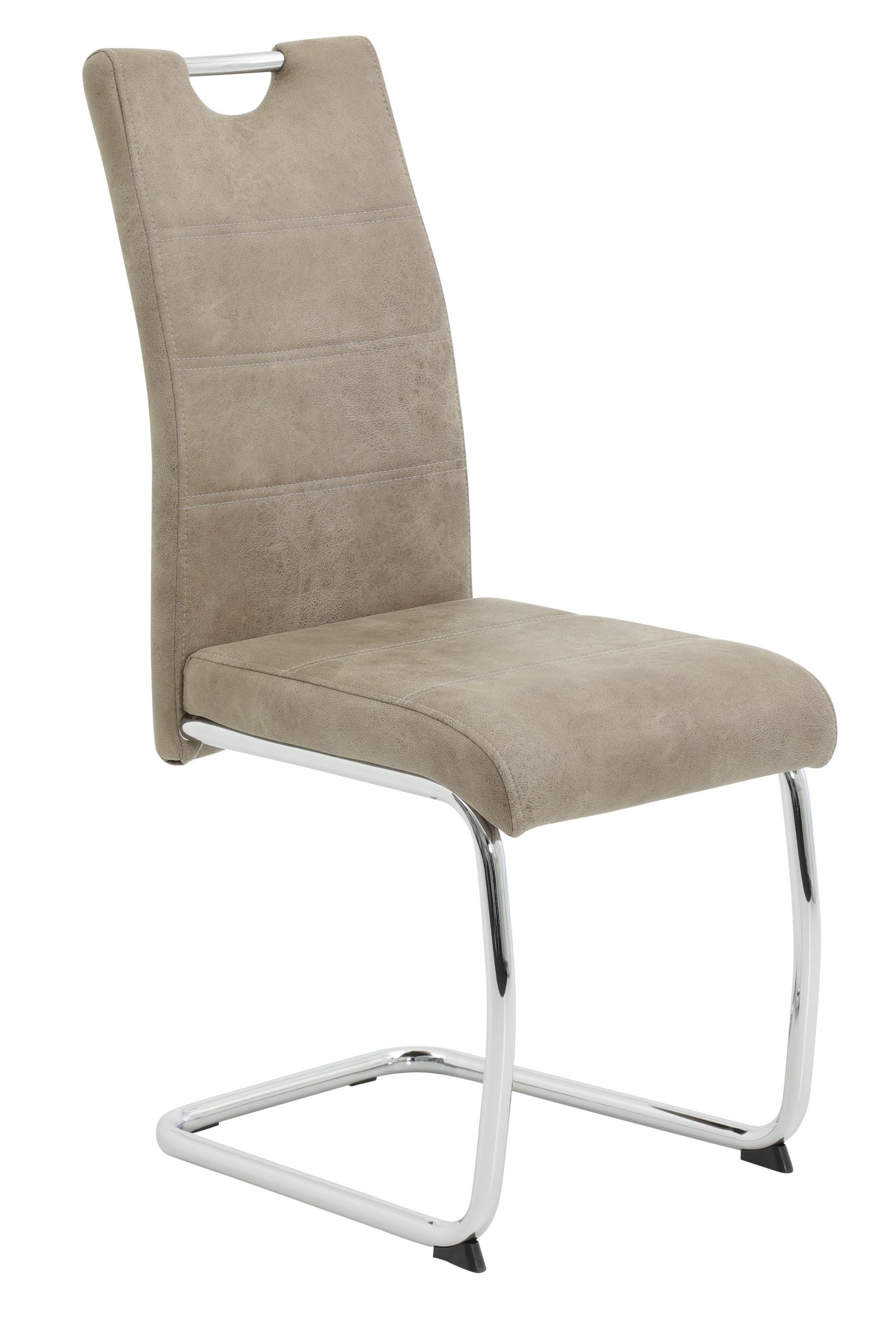 2 Freischwinger=Set Schwinger Stuhl Esszimmerstuhl Flora 70 Stoff Vintage Beige