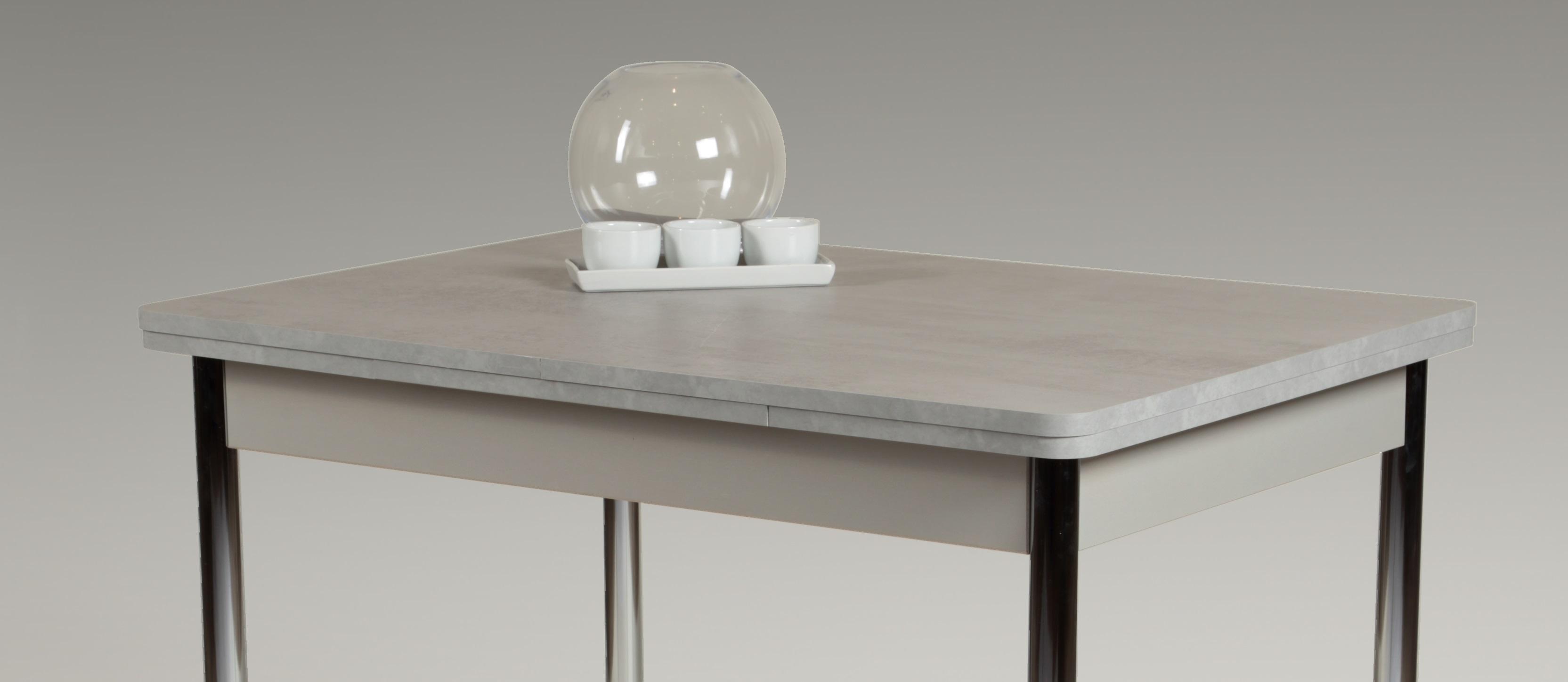 110-176x70 cm Esstisch Küchentisch Tisch Hamburg I 04/29 ausziehbar Beton Dekor