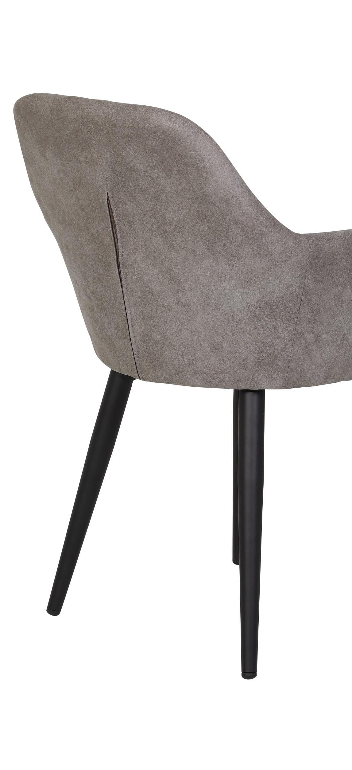8  Stühle=Set Stuhl Küchenstuhl Wohnzimmerstuhl Sessel Roberta 50 Microfaser Grau