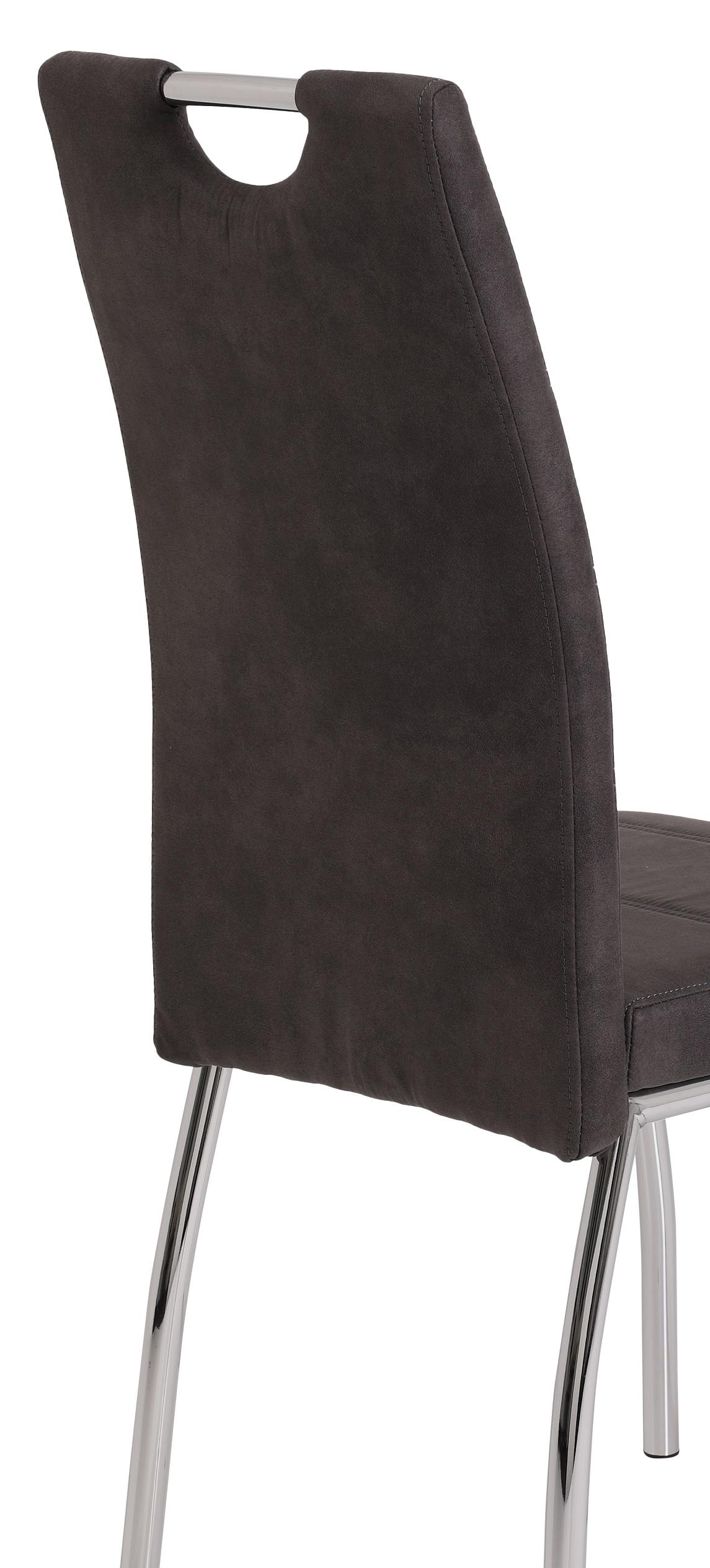 4 Stühle=Set Vierfussstuhl Stuhl Susi II S 46 Microfaser Vintage Anthrazit