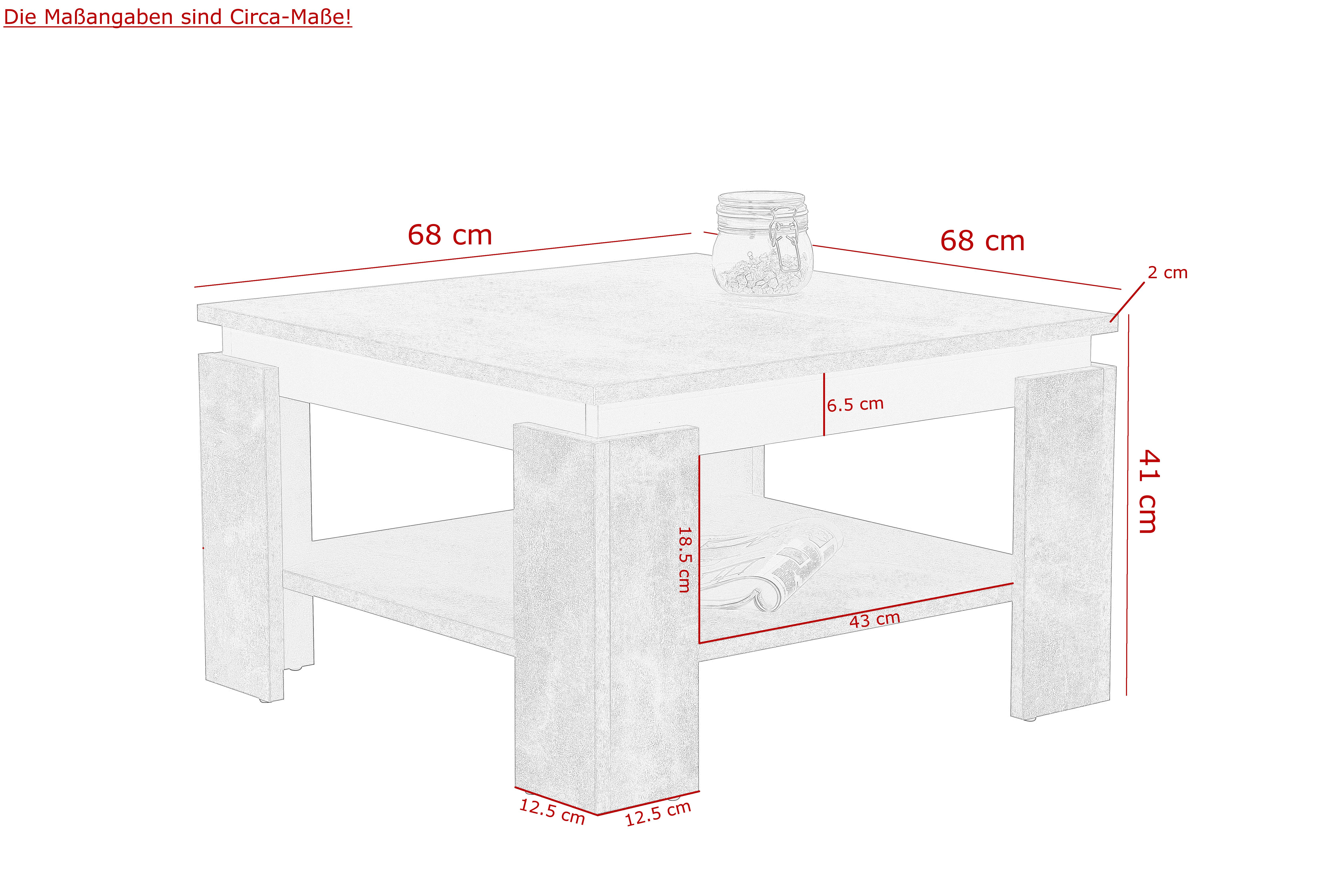 Couchtisch Stubentisch Tisch Tim II 82/03 Oldwood & Schwarz