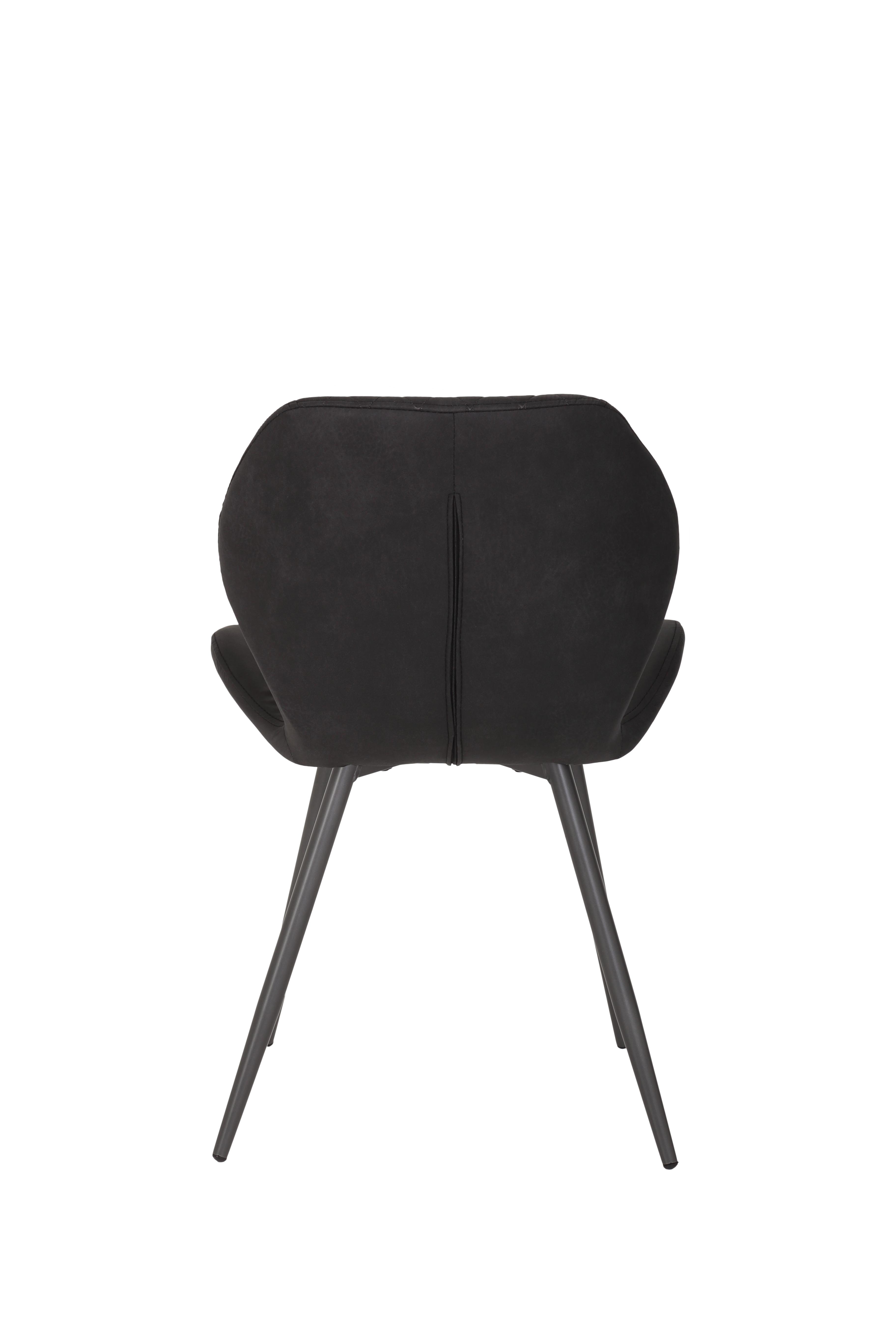 8 Stühle=Set Stuhl Küchenstuhl Esszimmerstuhl Retrostuhl Aurora S 46 Vintage Anthrazit