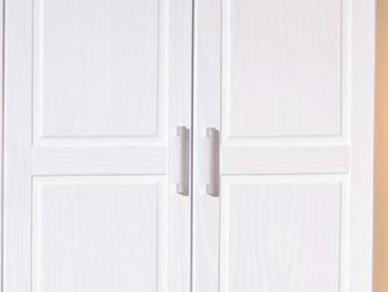 3-trg. Schrank Kleiderschrank Schlafzimmerschrank Magnus Kiefer Massiv Weiß lackiert