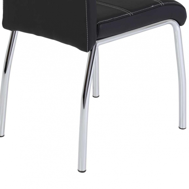 4 Stühle=Set Vierfussstuhl Stuhl Susi S 03 Kunstleder schwarz