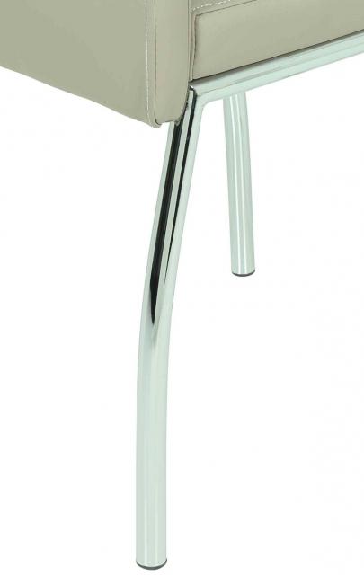 2 Stühle=Set Vierfussstuhl Stuhl Susi S 34 Kunstleder Cappuccino