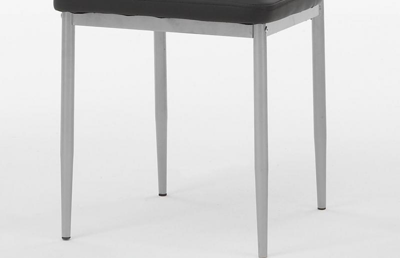 2 Stühle=Set Vierfussstuhl Stuhl Simone S 03 Kunstleder Schwarz