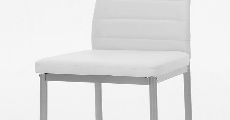 4 Stühle=Set Vierfussstuhl Stuhl Simone S 13 Kunstleder Weiß