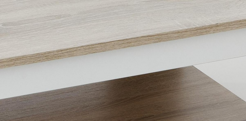 Couchtisch Stubentisch Tim II 63/13 Sonoma Eiche/Weiß NB