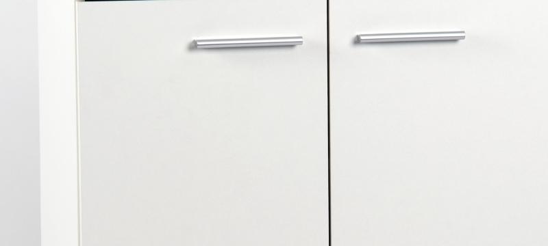 2 trg. Kommode Anrichte Sideboard 47210W3 Weiß Dekor