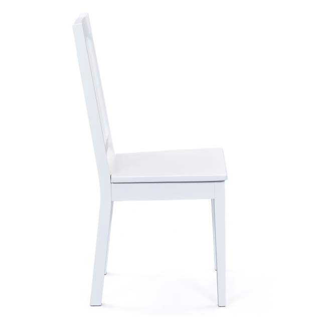 2 Stühle=Set Stuhl Küchen-Stuhl, Esszimmer-Stuhl Westerland 7.1 Weiß