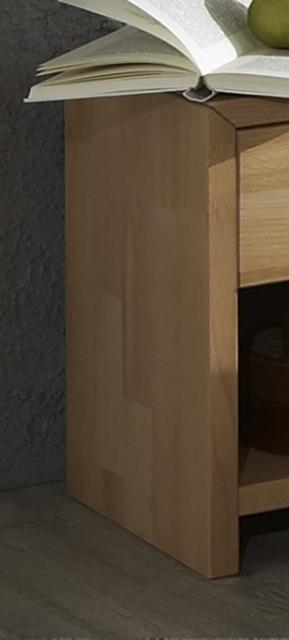 Nachttisch, Nachtkommode, Nachtkonsole Jud-na Kernbuche Massiv geölt