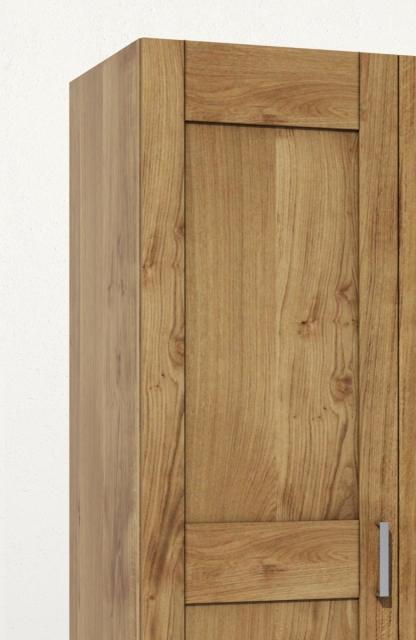 3-trg. Schrank Kleiderschrank Spiegelschrank TON3S Wildeiche Teilassiv geölt