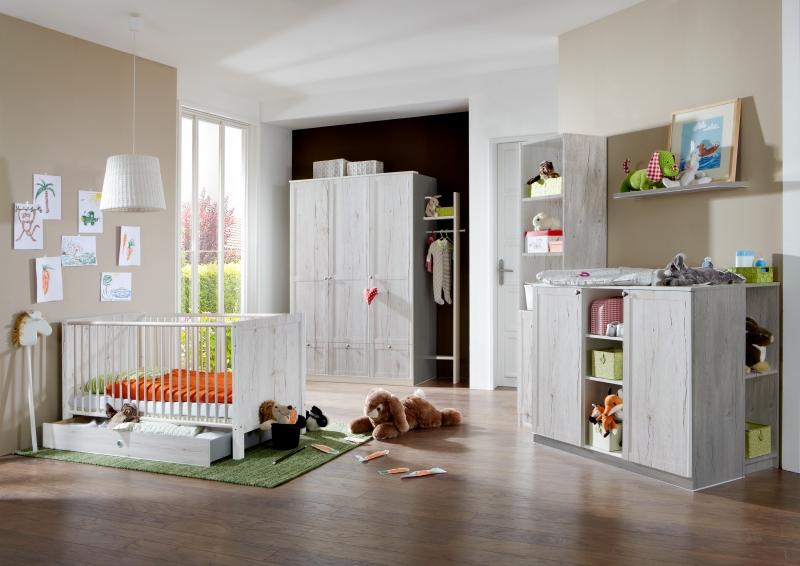 8tlg. Babyzimmer Kinderzimmer Komplettset Filou Weißeiche