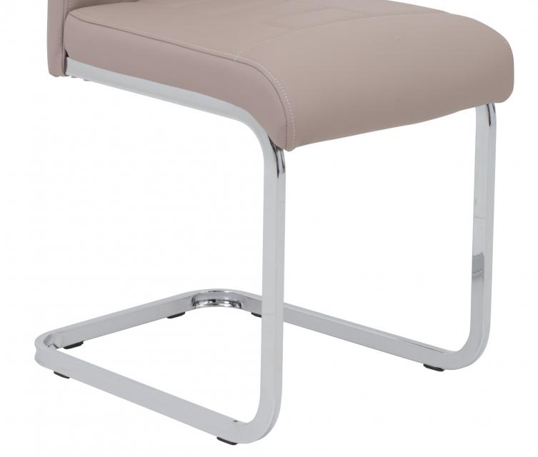 8 Freischwinger=Set Schwing - Stuhl Ruby 34 Kunstleder Cappuccino