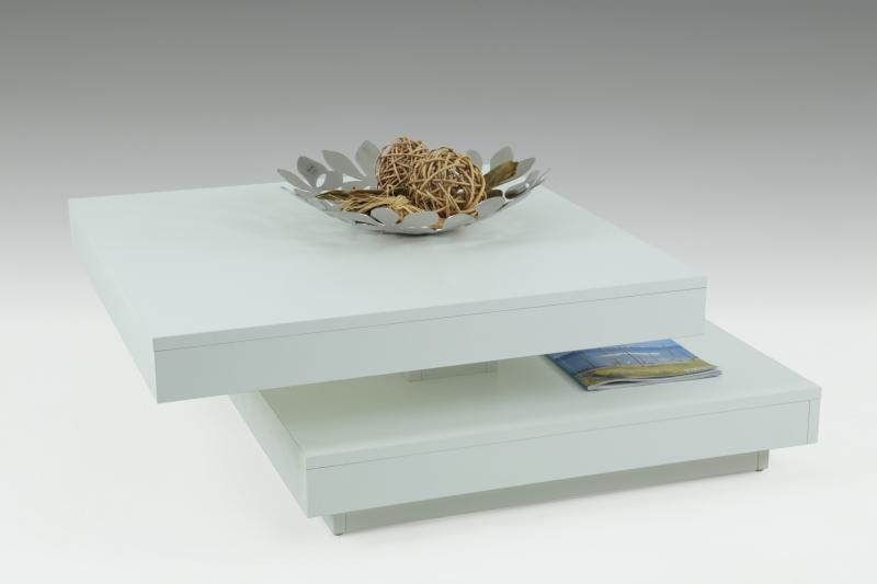78x78 cm Tisch Couchtisch Stuben-Tisch Wohnzimmertisch Ben 13 Weiß