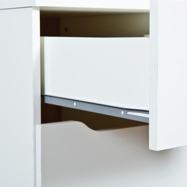 Schreibtisch, Arbeitstisch, Bürotisch, Computertisch Westphalen Melaminbeschichtet Weiß