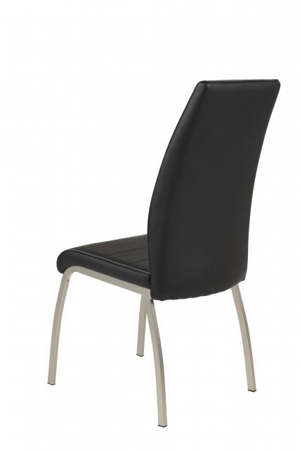 4 Stühle=Set Küchenstuhl Esszimmerstuhl Stuhl Amber 5 Kunstleder Schwarz