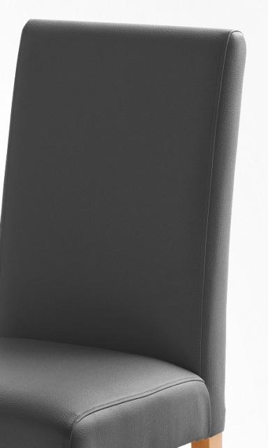 4 Stühle=Set Stuhl Küchenstuhl Esszimmerstuhl Polsterstuhl Fix 020ES179 Grau Eiche
