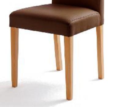 4 Stühle=Set Stuhl Küchenstuhl Esszimmerstuhl Polsterstuhl Fix 02060176 Braun Buche