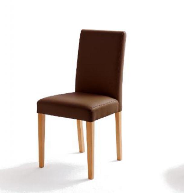 6 Stühle=Set Stuhl Küchenstuhl Esszimmerstuhl Polsterstuhl Fix 02060176 Braun Buche