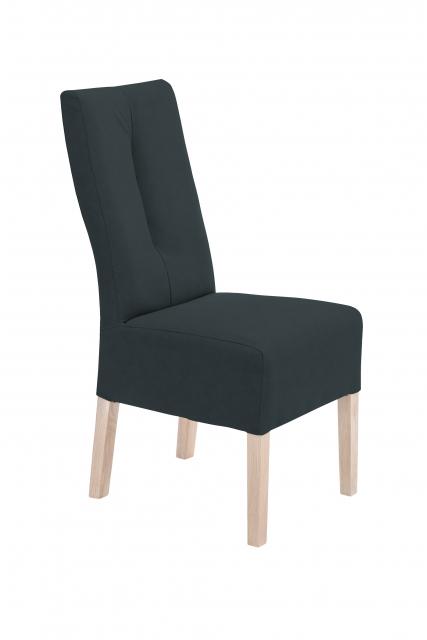 12 Stühle=Set Stuhl Küchenstuhl Esszimmerstuhl Polsterstuhl Fabius FBEHPAAN Anthrazit Eiche