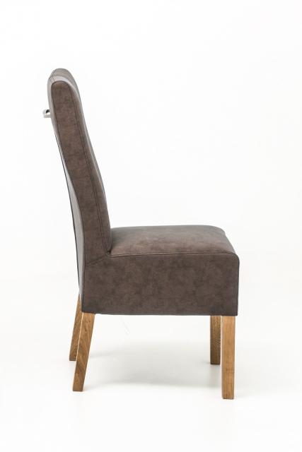 12 Stühle=Set Stuhl Küchenstuhl Esszimmerstuhl Polsterstuhl Fabius FBEHPABX Braun Eiche