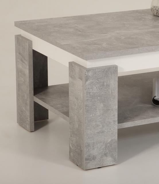 Couchtisch Stubentisch Tisch Tim II 04/13 Dekor Beton Weiß