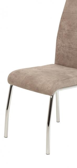 2 Stühle=Set Vierfussstuhl Stuhl Susi II S 70 Microfaser Vintage Beige